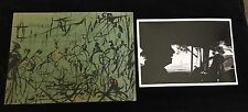 Pascal Cucaro 1960's Ink and Oil on Green Paper with Michael Bry Photo