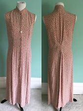 Vintage Mauve Pink Biel Bonne 100% Viscose from Germany Floral Maxi Dress Sz M