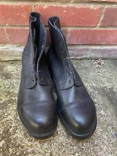 BLACK LEATHER AMMO AMMUNITION DRESS BOOTS - Size: 11 Large British Army Issue