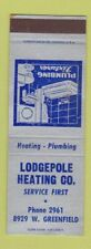 Matchbook Cover - Lodgepole Heating SAMPLE