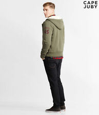 NWT Aeropostale Cape JUBY Jacket Military Fur Full zip SMALL S  Men's