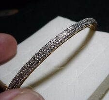 "Diamond Bangle Bracelet  7.50""  64 diamonds  .55tcw  MSRP$1019"