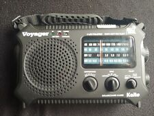 Kaito Voyager Ka500 Solar Crank Radio with Weather Band and Led Flashlight Black