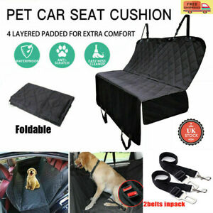 Pet Car Seat Cover Rear Back Seat Hammock Dog Safety Protector Waterproof Mat UK