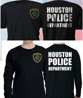 New HOUSTON Police Department Black T-Shirt Long Sleeve S-4XL