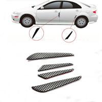 4x Silver Carbon Fiber Car Side Door Edge Protection Guards Trims Stickers Xj