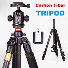 Carbon Fiber Camera Tripod Ball Head Fits Nikon Canon DSLR Cellphone Photo Video