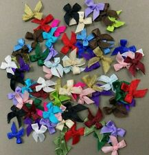 Mini Satin Ribbon Bows - Packs of 20 - Assorted Colours - Wedding DIY