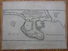 De Fer: Plan of Algier Algeria - 1695