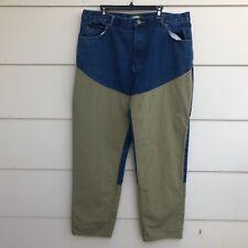 Cabelas Upland Hunting Brush Guard Blue Denim Jeans Mens Sz 42x34 Pheasants