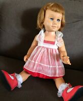 VINTAGE 1960 SOFT FACE BLONDE CHATTY DOLL - ORIGINAL OWNER - WELL LOVED