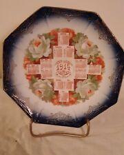 1914 Calendar Flow Blue Promotional Plate