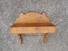 Primitive Style Wall Accent Wooden Shelf and Towel Rack