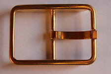 Gürtelschnalle, Gürtelschließe, Metall, goldfarben, ca. 30 mm