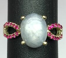 14k Star Sapphire & Ruby Ring, FREE SIZING, USA SELLER
