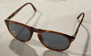 PERSOL PO9649S-96/56 Sunglasses Terra di Sienna/Blue 55 mm