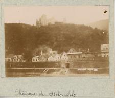 Allemagne, Coblence, Koblenz, le château de Stolzenfels vintage albumen print,
