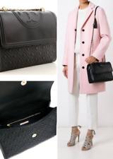 TORY BURCH Large Fleming Convertible Shoulder Bag NWT Black 31381 sale Authentic