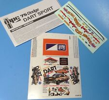 MPC 1975 Dodge Dart Sport Decals, Instructions and min-box 1/25 Scale