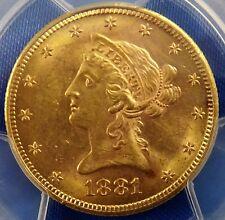 1881-S $10 Gold Liberty Head Eagle PCGS MS61