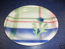Syracuse China Plaid Thistle Oval Plate- Excellent Condition