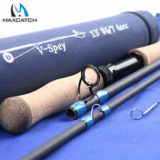 6/7/8/9/10WT Spey Fly Fishing Rod Two-handed Fishing Rod W/ Rod Tube