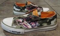 Details about NEW Ed Hardy Sneakers Leather Laceless Slip On Geisha Converse Women's 5 Japan
