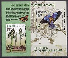 BELARUS 2013 **MNH SC# ( ) S/S  Flowers and Bird - Moonwort, European Roller