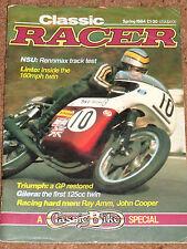 Classic Racer Spring 1984 - NSU 250 RENNMAX, REG SPECIALS, 1969 IoM TT POSTER