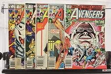 Lot of 6 1980's Marvel Comic Books The Avengers #194 202 203 224 227 229