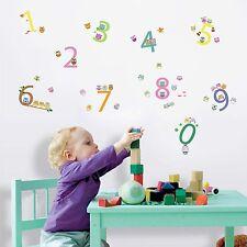 Owls 123 Educative Kid's Boys Girls Babies Nursery Room Children Wall Stickers
