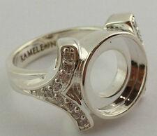 Authentic Kameleon Silver Cz Shank Ring Kr-4 Kr004  Size 8, New