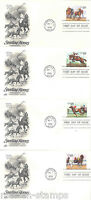 UNITED STATES RACE HORSES  SET ON ARCRAFT FIRST DAY COVERS
