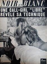 MICK MYCHEYL ET LES HOMMES TECHNIQUES DE CALL-GIRL NOIR ET BLANC N° 1249 de 1969