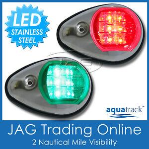 AQUATRACK STAINLESS STEEL LED NAVIGATION LIGHTS - Port/Starboard Marine/Boat PS