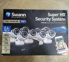 Swann - 8 Channel Security System: 5MP Super HD 2TB DVR 8 Cameras SWDVK-8HD5MP8