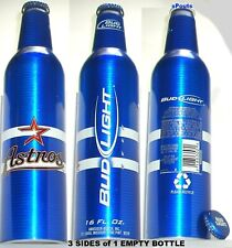 2007 HOUSTON ASTROS MLB BASEBALL STAR BUD LIGHT ALUMINUM BOTTLE BEER TEXAS CAN