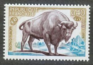 France 1974 MNH Mi 1874 Bison WWF **