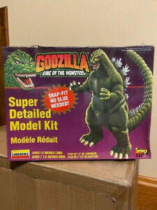 "Lindberg Snap Fit Godzilla King of Monsters 12"" 1995 Model Kit 71344 Sealed"