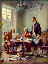 Writing the Declaration of Independence 1776 Ferris Patriotic Print Poster 18x24