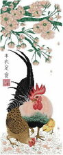 """Goldmilky cross stitch kit """"Chinese Painting Lucky Rooster"""" 22 x 24""""-c30"""