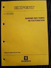 (312MB) Manuel d'atelier PEUGEOT EXPERT - Barème des temps de facturation.
