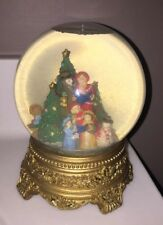 San Francisco Music Box Company Snow Globe Village Carolers White Christmas
