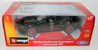 BURAGO 1/18 18-11035B BENTLEY CONTINENTAL SUPERSPORTS CONVERTIBLE ISR BLACK