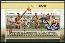Guinea Scouting Stamps 2013 MNH Boy Scouts Butterflies Butterfly Insects 3v M/S
