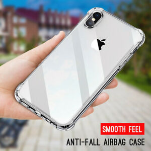 Shockproof Bumper Transparent Clear Slim Rubber Silicone Soft Phone Case Cover