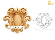 Ornate carved wood appliques for mantel (10 pc.)