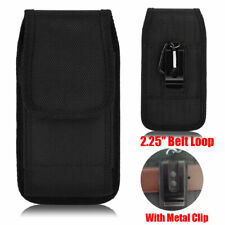 "For Samsung Galaxy S20 Plus (6.7"") Rugged Nylon Pouch W/ Belt Loops & Metal Clip"