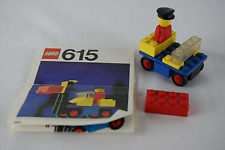 Lego Classic City 615 Fork Lift Driver parts with instructions no box 1975