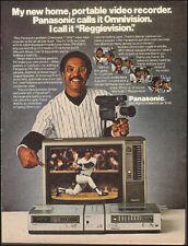 1980 Vintage ad  Panasonic Video Recorder Baseball Player Reggie Photo (060417)